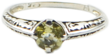 Sterling Silver Citrine Antique Style Ring