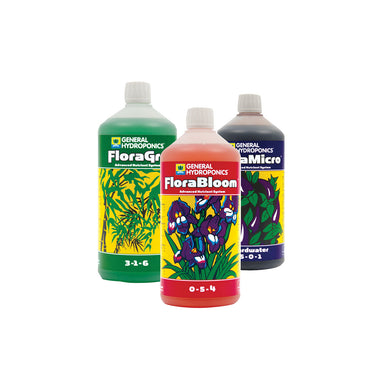 GHE Flora Series Tri-Pack 500ml Hydroponic Nutrient