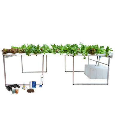 The Complete Hydroponic Grower's Kit For The Leaf Station Pro (108 planter NFT)