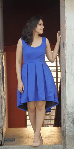 Aaina by Sanchari-Blue High Low Cocktail Dress