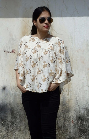 Aaina by Sanchari-Printed Summer Circle Top