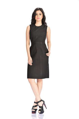 Aaina by Sanchari-Black Pencil Dress