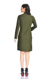 Aaina by Sanchari-Olive Green Shirt Dress cum Tunic