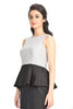 Aaina by Sanchari-Silver Sequins Black Peplum Dress
