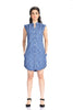 Aaina by Sanchari-Bird Print Blue Shirt Dress