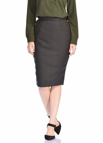 Aaina by Sanchari-Classic Black Pencil Skirt