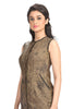 Aaina by Sanchari-Abstract Print Olive Pencil Dress