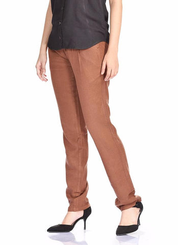 Aaina by Sanchari-Women Linen Pegged Trouser