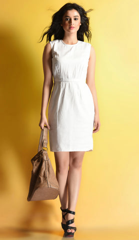 Aaina by Sanchari-Classic White Dress