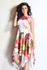 Aaina by Sanchari-Asymmetrical Multicolor Dress