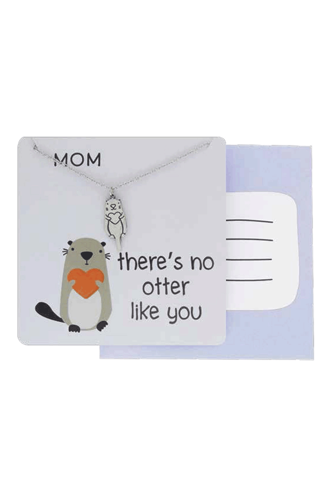 Necklace with card