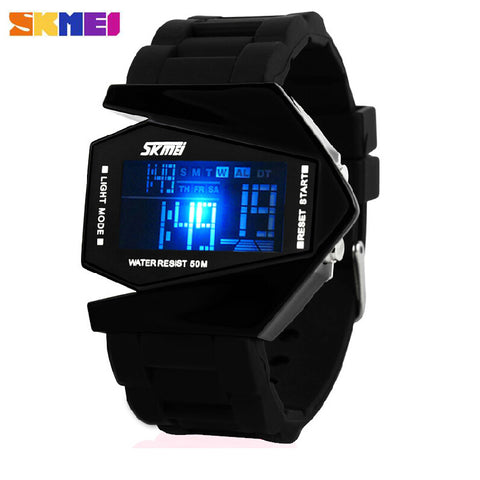 New Aircraft Style LED Digital Waterproof Watch