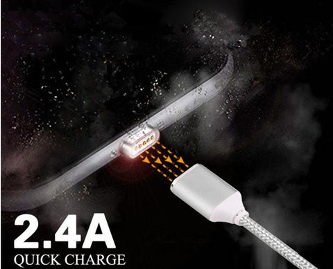2.4A HIGH SPEED CHARGING MAGNETIC CABLE FOR ANDROID OR APPLE