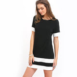 BLACK WHITE PATCHWORK DRESS