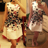 SUMMER VINTAGE PRINT CASUAL DRESS