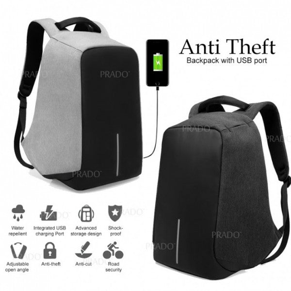 Anti-theft Travel Backpack With USB Charging Port