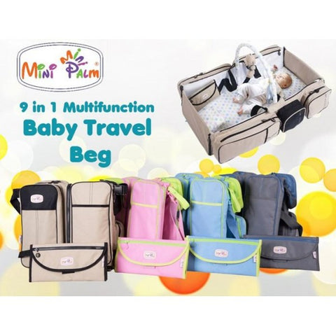 Baby Travel Bed and Magical Baby Bag- 9 in 1 Multifunctional Baby Travel Bed