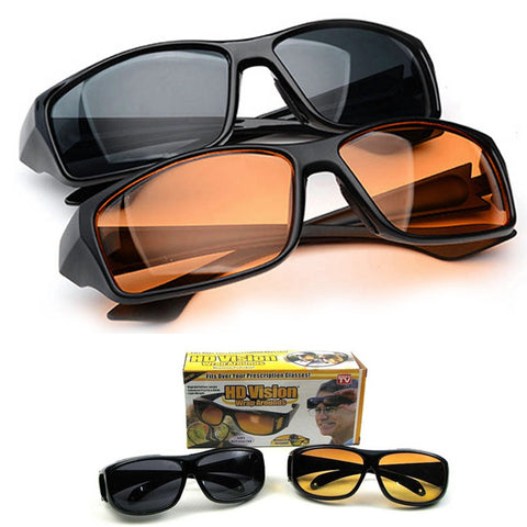 Pack Of 2 HD Vision Glasses Day & Night Safe & Style