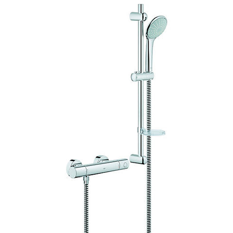 G1000 Cosmo Exposed Thermostatic Shower Valve with Euphoria Shower Set (Low Pressure)