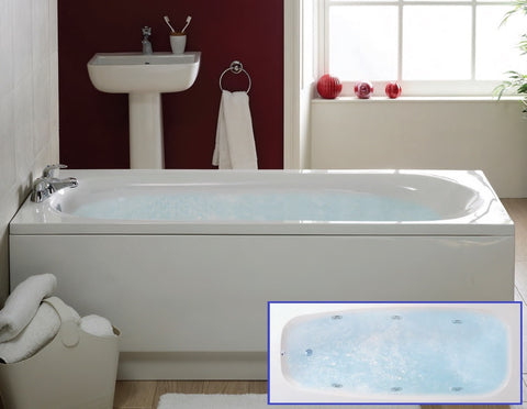 1700 x 700mm 6 Jet Whirlpool Bath