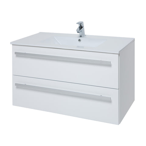 Two Drawer Wall Hung Unit & Basin