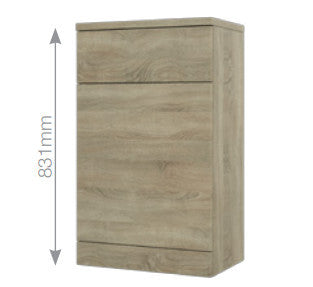 Bordeaux Oak WC Unit for Back to Wall Pans