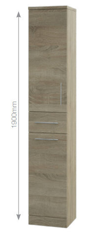 Bordeaux Oak Tall Unit 1900x350x300mm