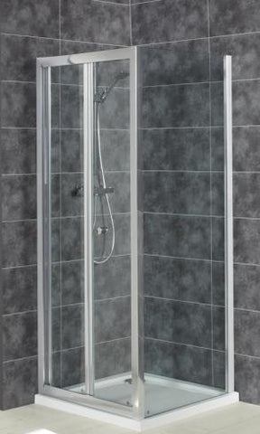 Intro 6mm Toughend Glass Bi-Fold Door & Square Shower Tray Pack