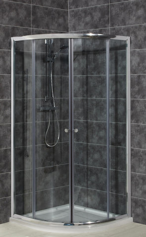 Intro 6mm Toughened Glass Quadrant & Offset Quadrant & Shower Tray Pack