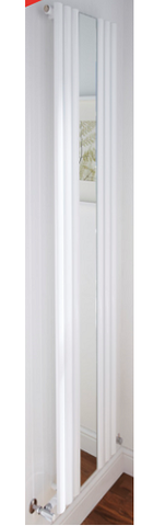 Designer White Mirrored Radiator 1800H x 500W