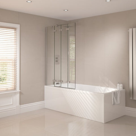 Prestige Frameless 4 Fold Bath Screen