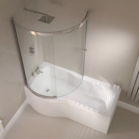 Prestige P Shape Sliding Bath Screen