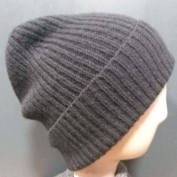 Scottish 4 Ply Lambswool Ribbed Unisex Beanies