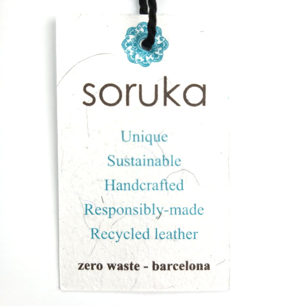 Soruka Recycled Handcrafted Leather Purse