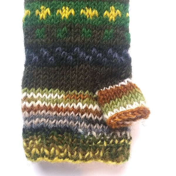 Handknit Fairtrade Wrist Warmers