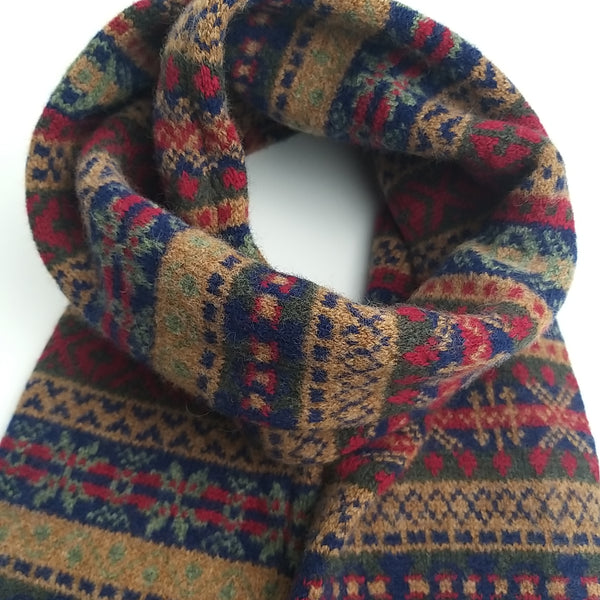 Scottish Fairisle Tubular Unisex Scarf