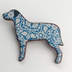 Handmade Ceramic Mary Goldberg Brooch