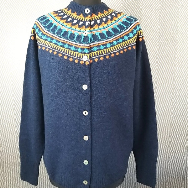 Harley of Scotland Fairisle Cardigan L4351/3HB