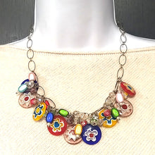 Stunning Glass Multicolored Necklace