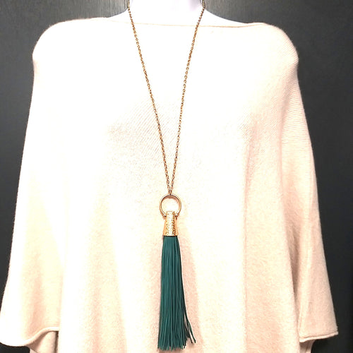Stunning Leather Tassle Necklace