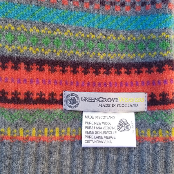 Green Grove Weavers Scottish Staffa Fairisle Scarf