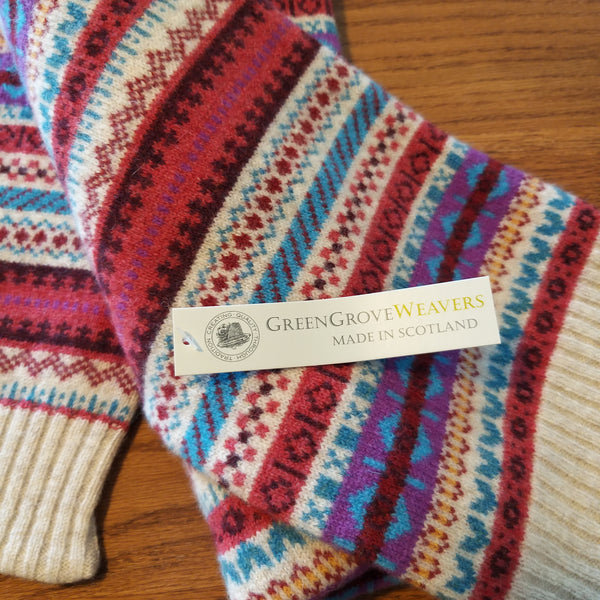 Green Grove Weavers Scottish Fairisle Staffa Scarf