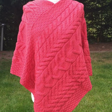Irish Supersoft Merino Poncho B676