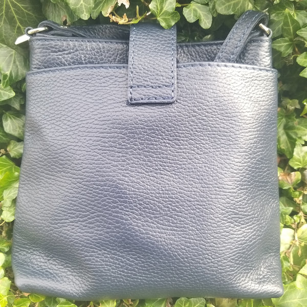 Leather Twist Lock Handbag