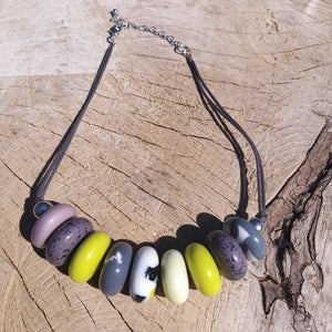 Suzie Lime And Grey Necklace