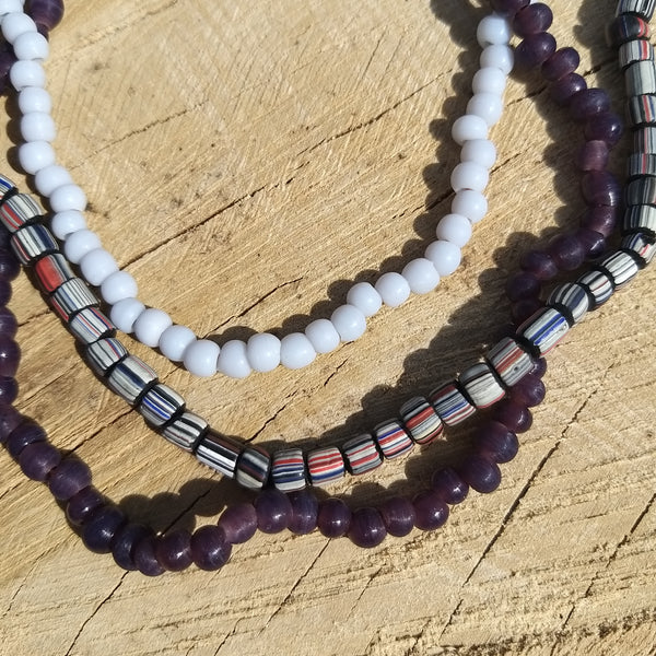 Handmade Glass Beaded Necklace