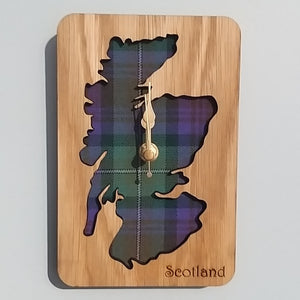 Scotland Tartan Wall Clock