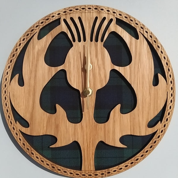 Handmade Scottish Thistle Wall Clock