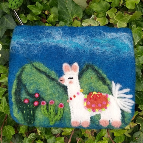 Hand Felted Lama Purse