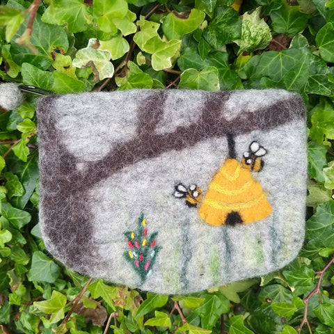 Felted Beehive Purse